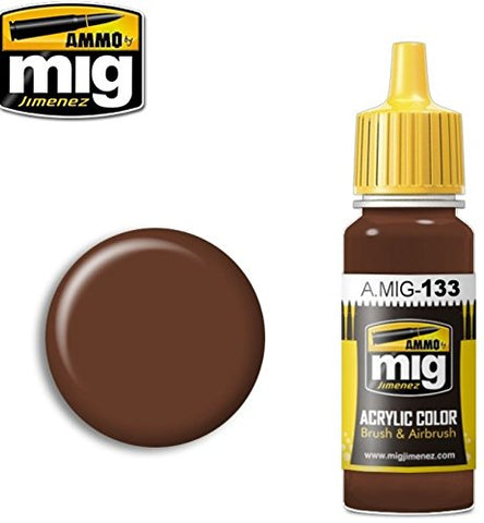 Ammo of Mig Jimenez Acrylic Color Brushes & Airbrush Red Leather 17ml #0133