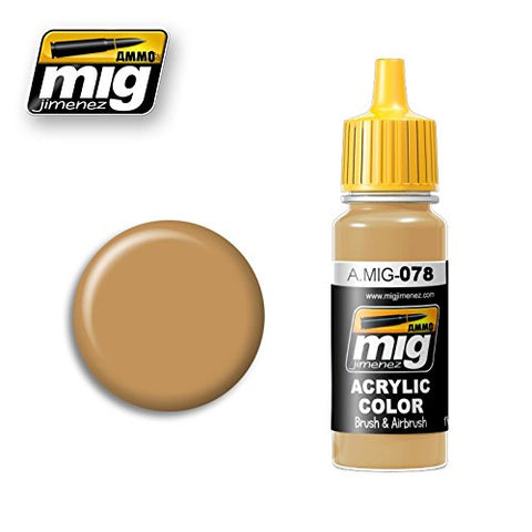 Ammo of Mig Jimenez Acrylic Color OCHRE EARTH 17ml #0078