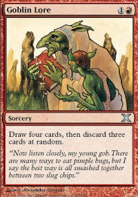 Magic: the Gathering - Goblin Lore (208/383) - Tenth Edition - Foil