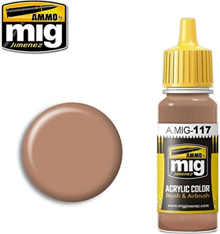 Ammo of Mig Jimenez Acrylic Color Brushes & Airbrush Warm Skin Tone 17ml #0117