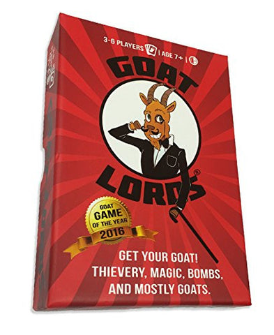 Goat Lords -- Hilarious and Competitive New Card Game, Best for Adults, Teens, and Kids, Ages 7 and Up. Awesome Party Game for Families, Fun Nights, Camping, etc! - Hard Durable Box - Free e-Book