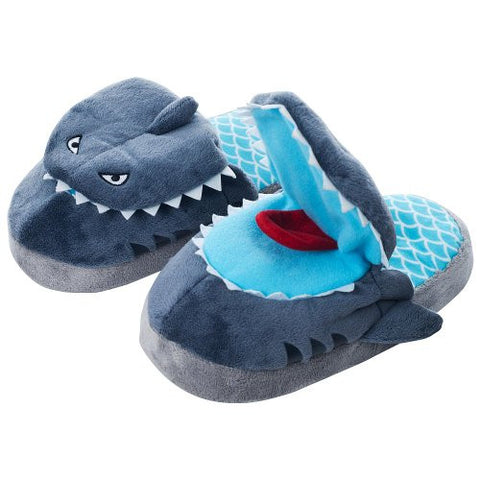 "Silly Slippeez ""Sneaky Shark"" Slippers XL (Size 4-6)"