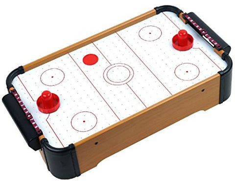 Game room games the hobby hero wooden mini table top air hockey game set 21 battery operated keyboard keysfo Images