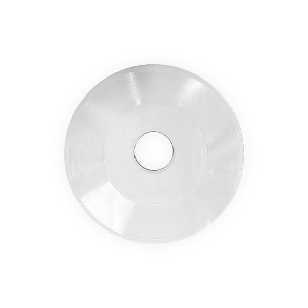 "7"" Embossing Circles - Clear (Large Hole)"