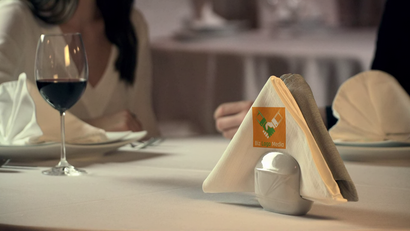 Restaurant Napkin Logo Video