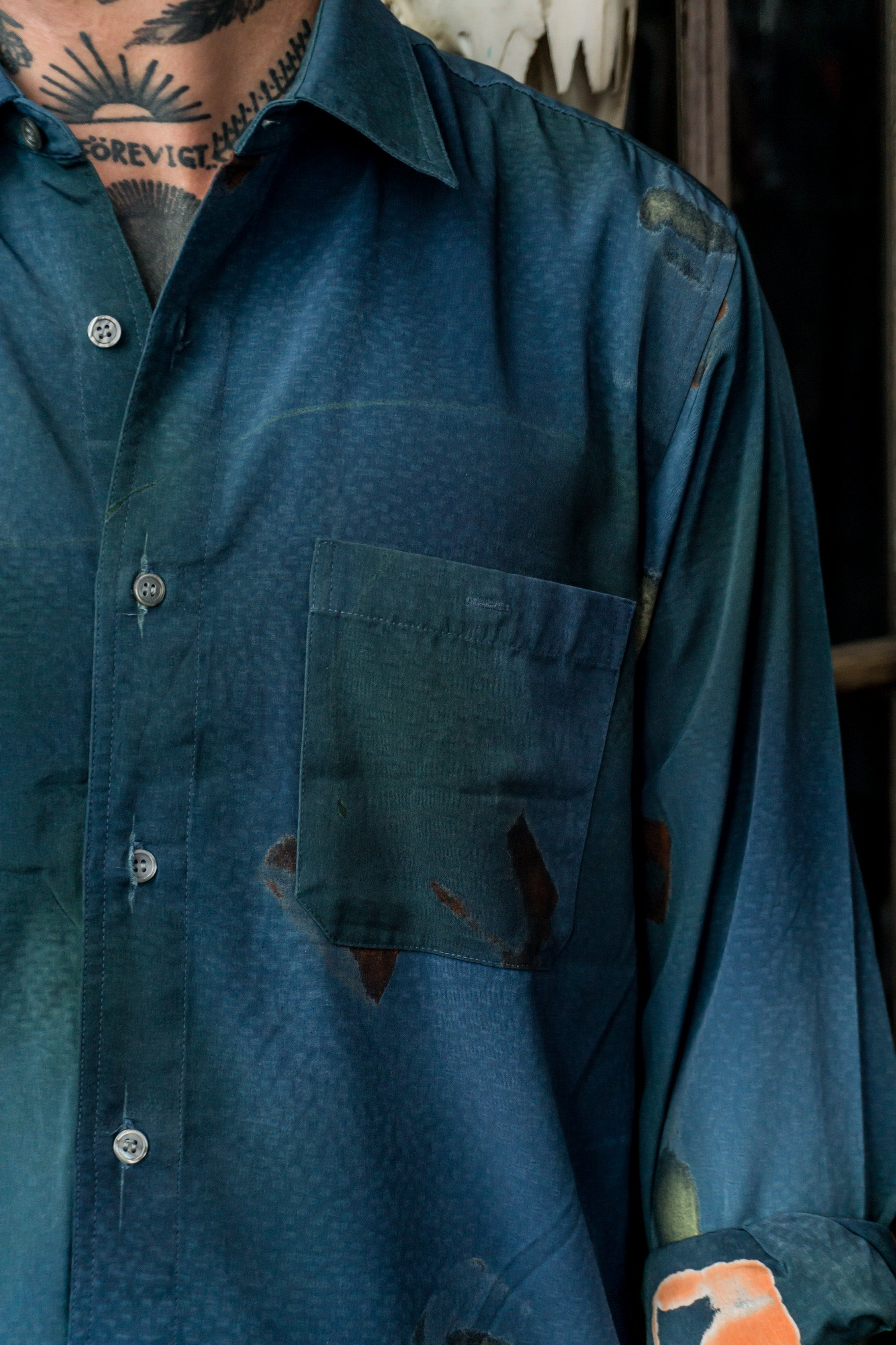 Bonton Button Up - Blue