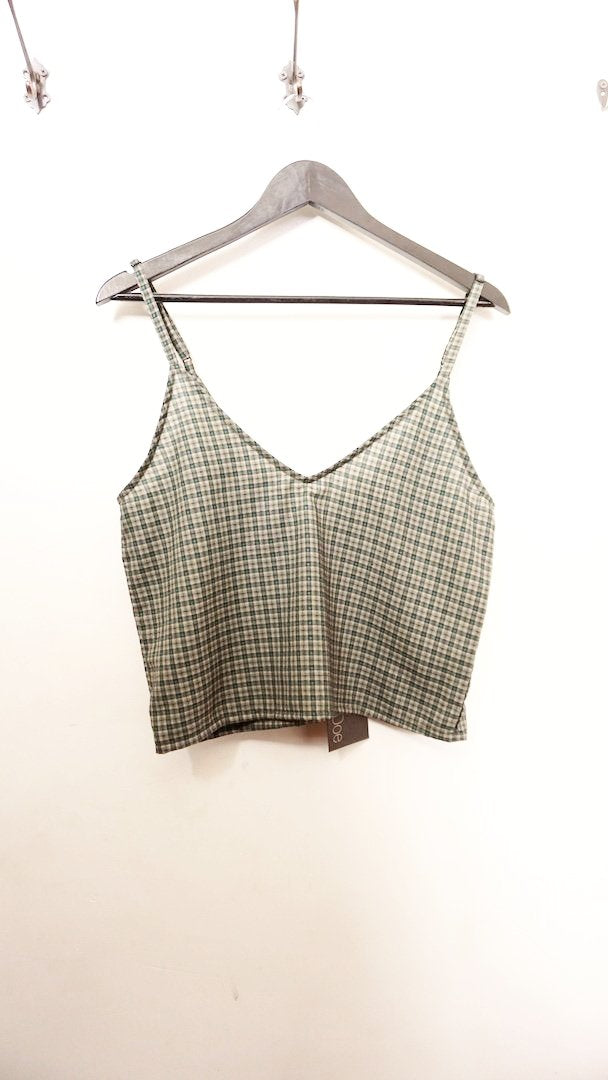 Jane Doe Exclusive Green Check Cami