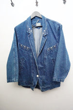 Vintage Oversize Denim Jacket With Studs
