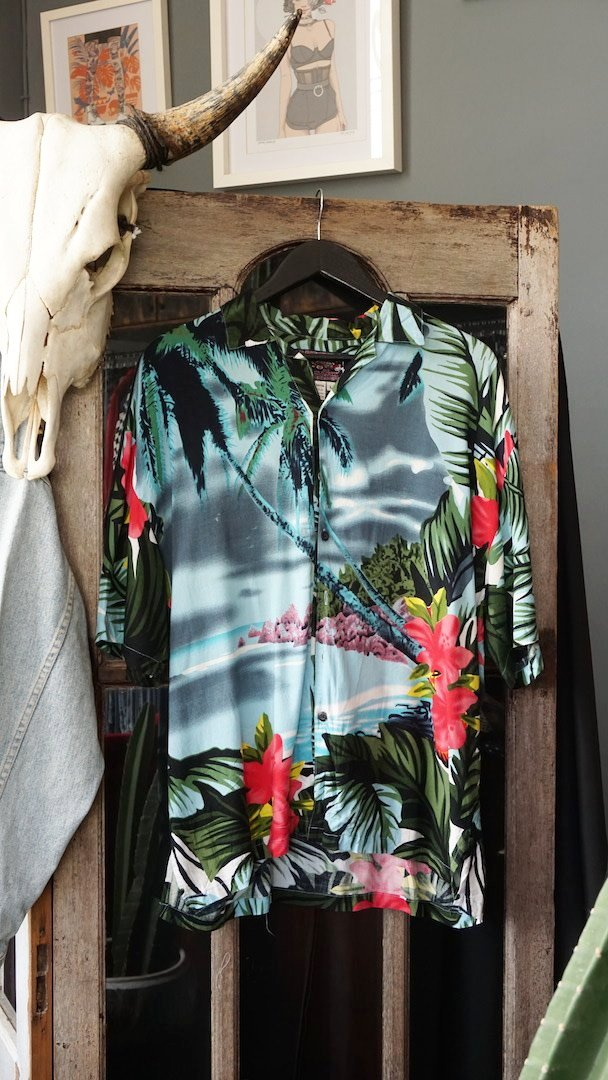 Hawaiian Shirt Green