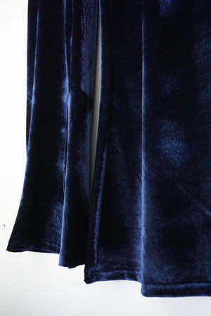 Jane Doe Exclusive Velvet Flare Pants - Midnight Blue