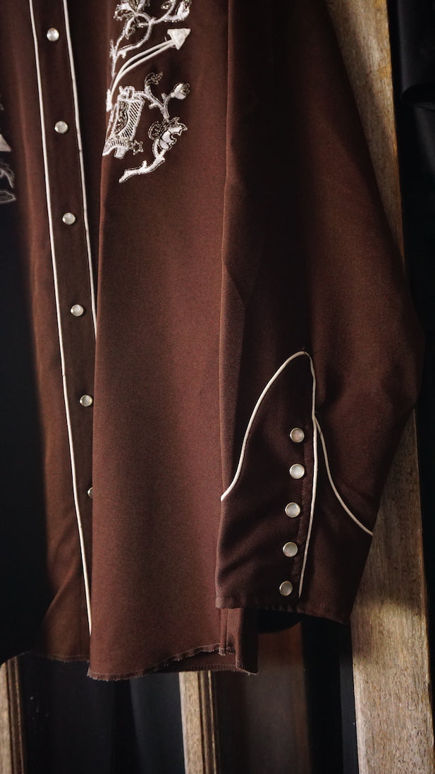 Long Tail Button Up Brown
