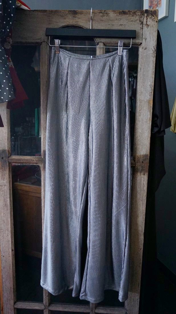 Jane Doe Exclusive Flare Pants - Silver Shimmer