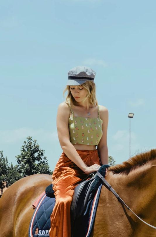RODEO QUEENS Fitted Crop Cami