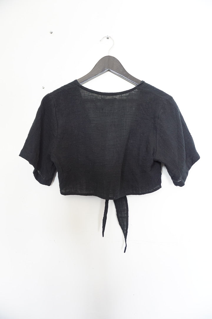 Jane Doe Exclusive Tie Top - Black