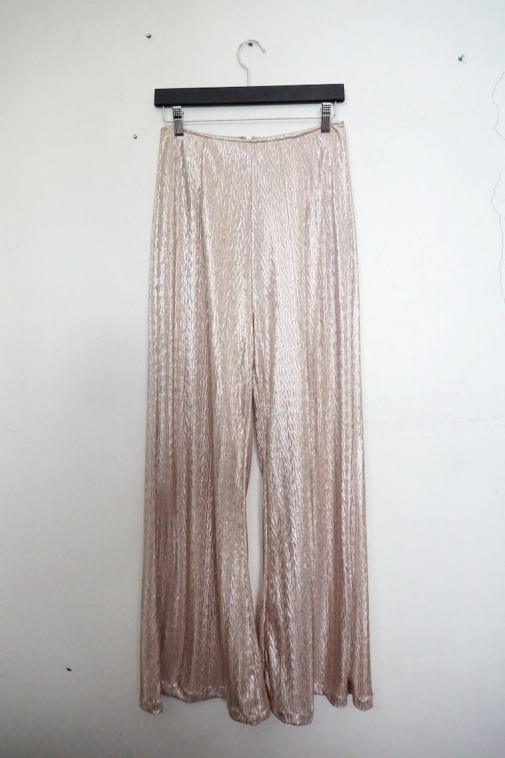 Jane Doe Exclusive Flare Pants - Gold Shimmer