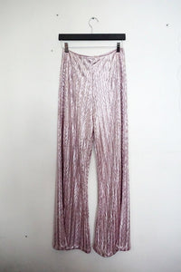 Jane Doe Exclusive Flare Pants - Pink Shimmer