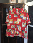 Honolulu Hawaii Button Up - Red