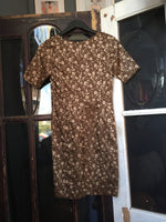 Dita Fitted Dress Brown