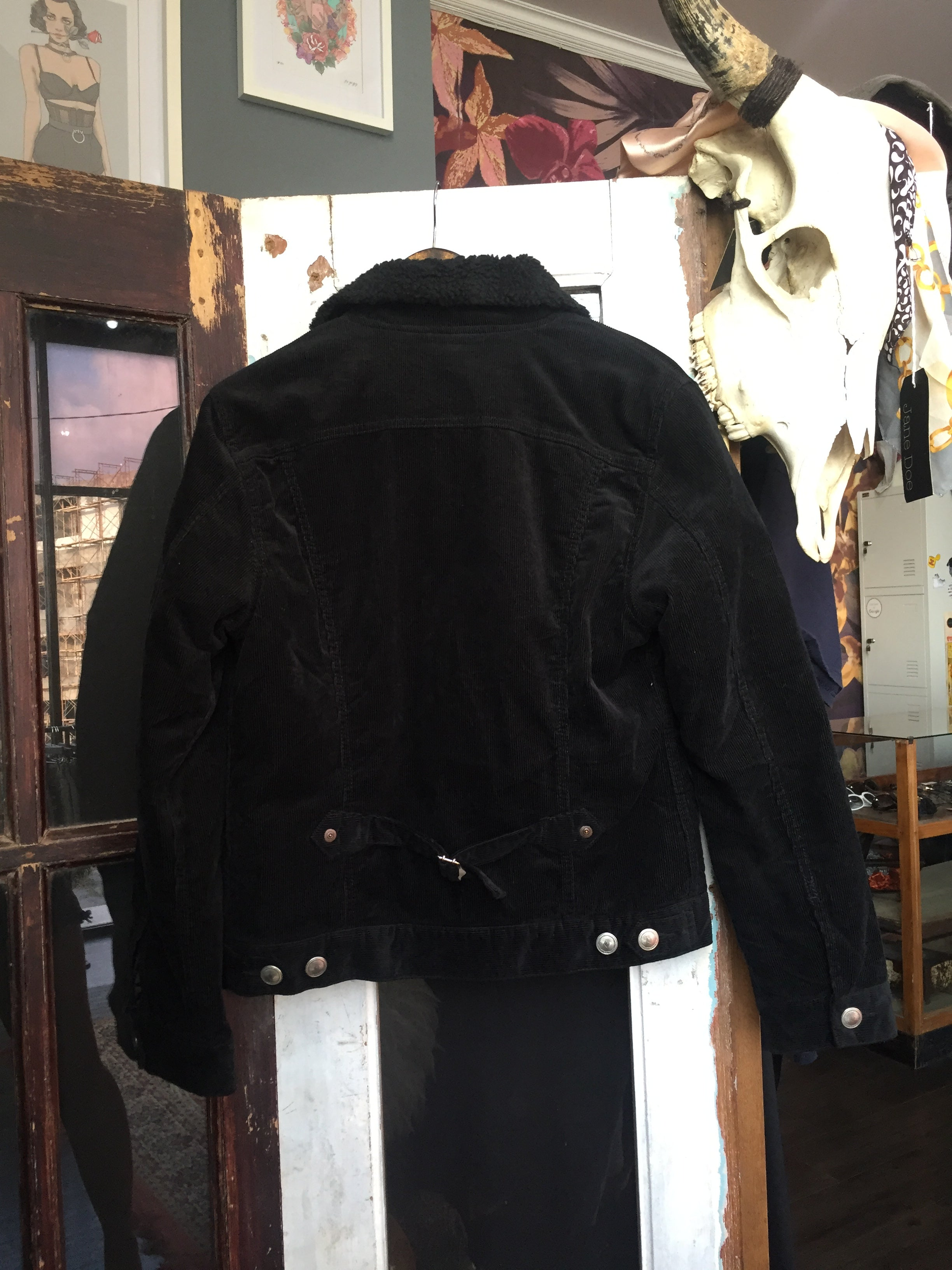 Black Exclusive Vintage Cord Jacket