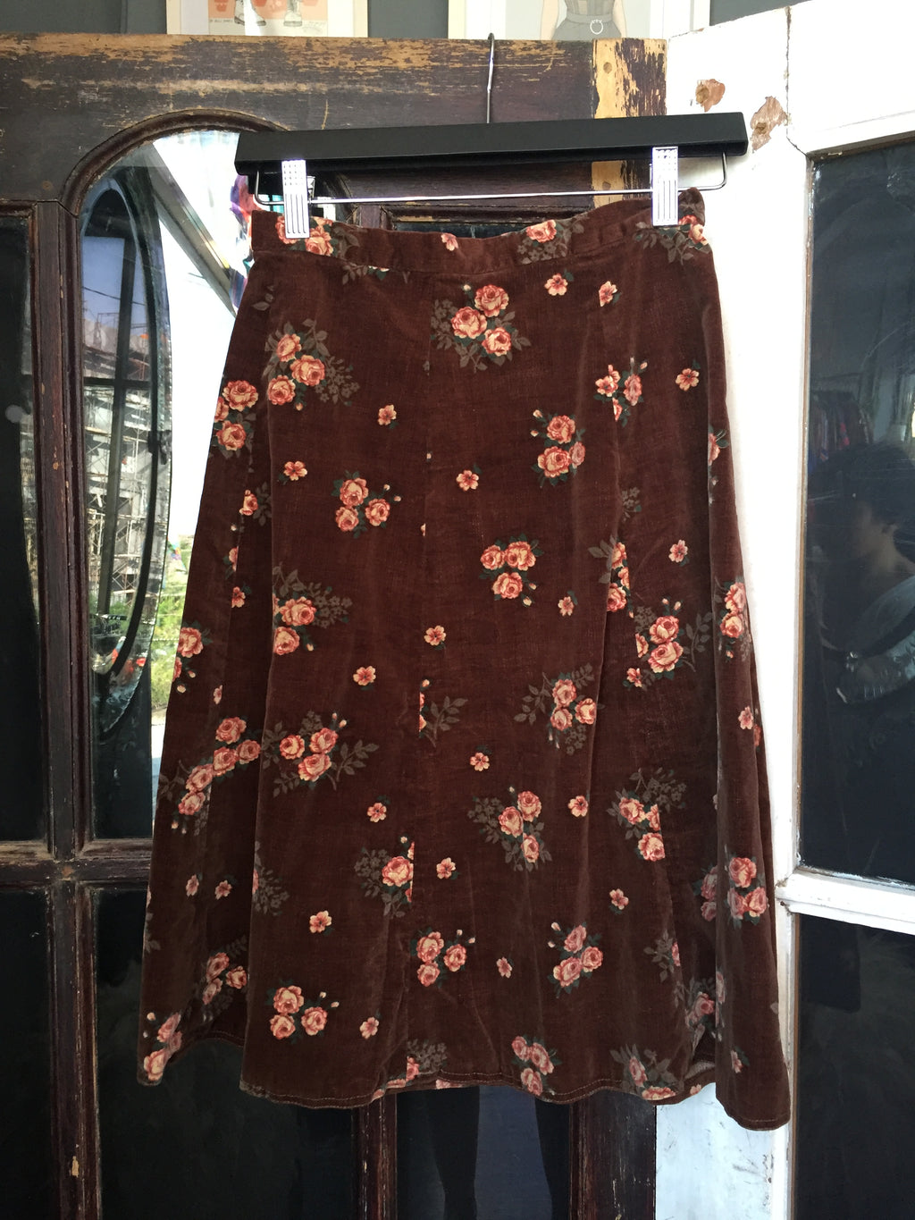 Gerier Flower Skirt - Brown