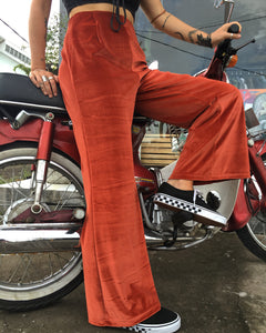 Velvet Pants - Burnt Orange