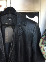 Collezione Black Leather Long Jacket