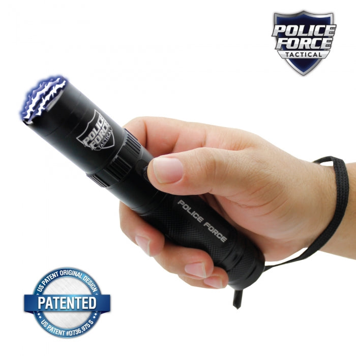 Police Force 9,200,000* Tactical Stun Flashlight Black - prepare-and-protect-personal-protection-products