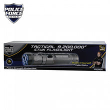 Police Force 9,200,000* Tactical Stun Flashlight Gun Metal - prepare-and-protect-personal-protection-products