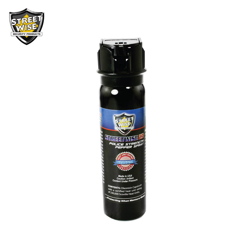 Police Strength Streetwise 23 Pepper Spray 4 oz Flip Top - prepare-and-protect-personal-protection-products