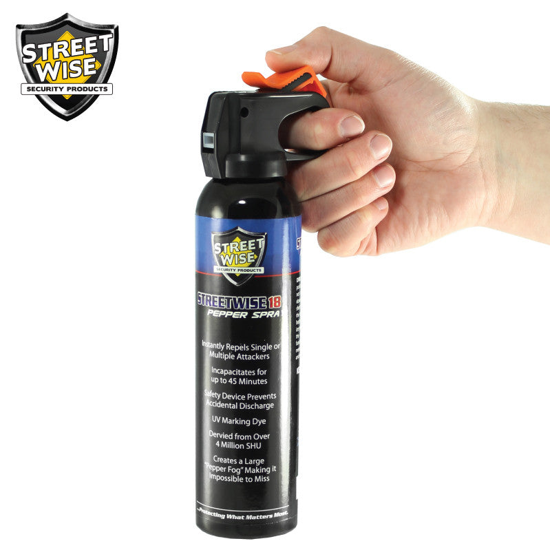 Lab Certified Streetwise 18 Pepper Spray, 9 oz Fire Master - prepare-and-protect-personal-protection-products
