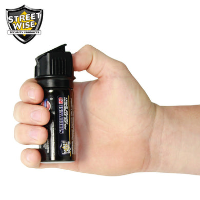 Police Strength Streetwise 23 Pepper Spray 2 oz Flip Top - prepare-and-protect-personal-protection-products