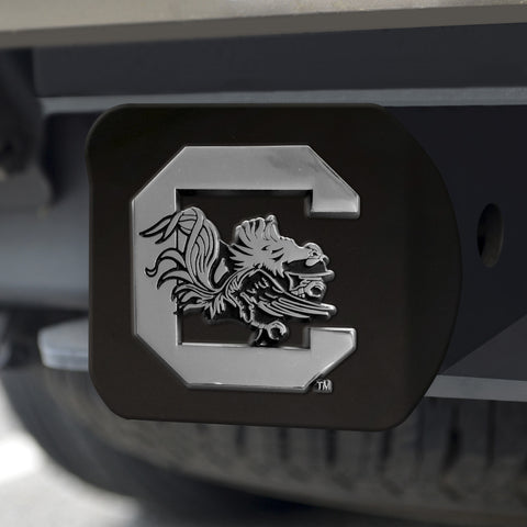 "South Carolina Black Hitch Cover 4 1/2""x3 3/8"""