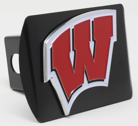 "Wisconsin Color Metal Hitch Black 3.4""x4"""
