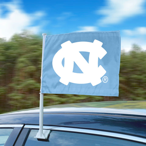 "UNC North Carolina Tar Heels 11""x14"" 2-Sided Window Mounted Car Flag"