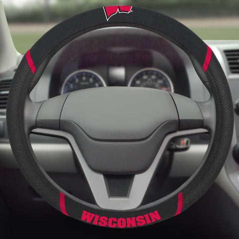 "Wisconsin Steering Wheel Cover 15""x15"""