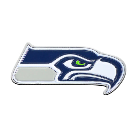 NFL - Seattle Seahawks Chrome Color Metal Emblem