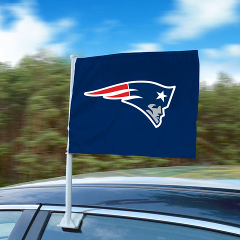 "New England Patriots 11""x14"" 2-Sided Window Mounted Car Flag"