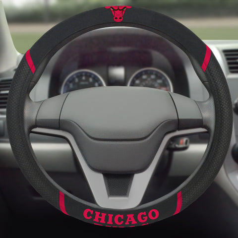 "Chicago Bulls Steering Wheel Cover 15""x15"""