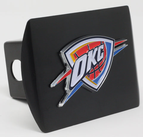"Oklahoma City Thunder Color Metal Hitch Black 3.4""x4"""