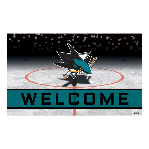 San Jose Sharks Crumb Rubber Door Mat