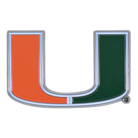 "Miami Hurricanes C13Color Metal Emblem 1.8""x3.2"""