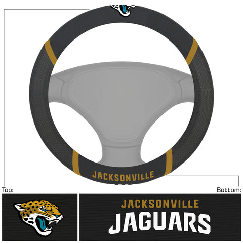 NFL - Jacksonville Jaguars Steering Wheel Cover with Embroidered Logos