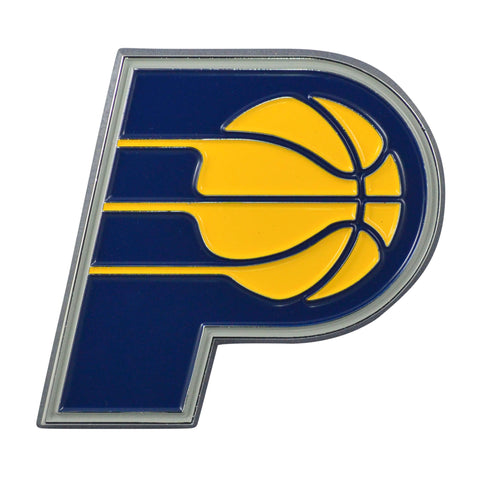 "Indiana Pacers Color Metal Emblem 3""x3.2"""