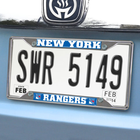 "New York Rangers License Plate Frame 6.25""x12.25"""