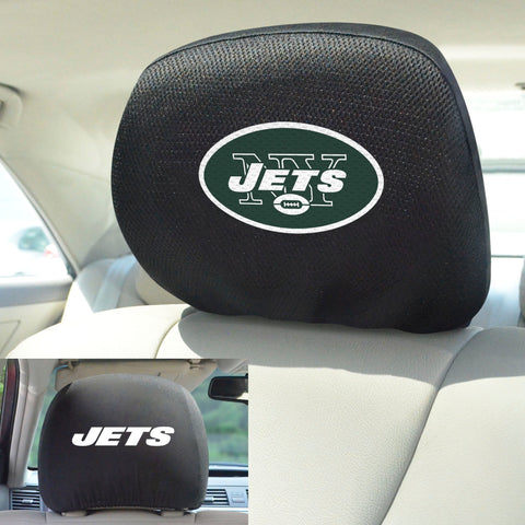 NFL - New York Jets Head Rest Covers with Embroidered Logos