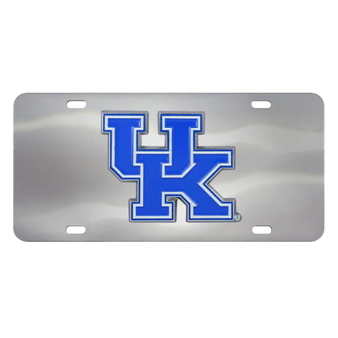 Kentucky Wildcats Stainless Steel Diecast License Plate