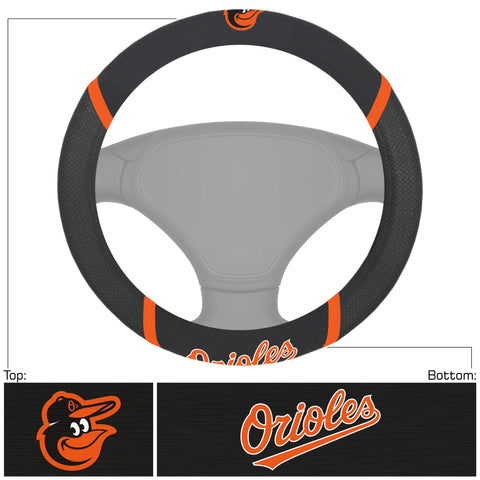 MLB - Baltimore Orioles Embroidered Steering Wheel Cover