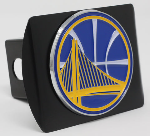 "Golden State Warriors Color Metal Hitch Black 3.4""x4"""