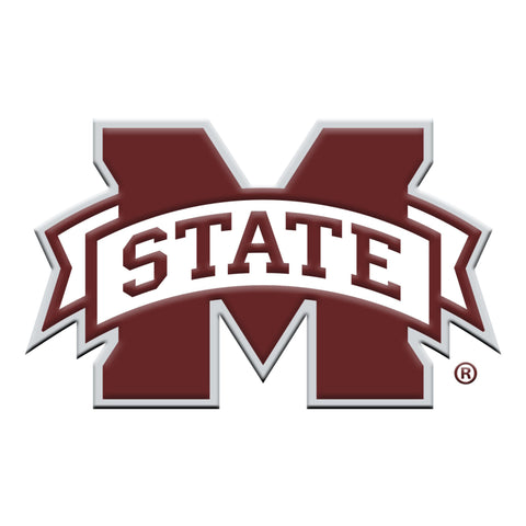 "Mississippi State University Color Metal Emblem 3""x3.2"""