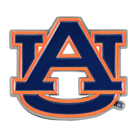 "Auburn University Color Metal Emblem 2.7""x3.2"""